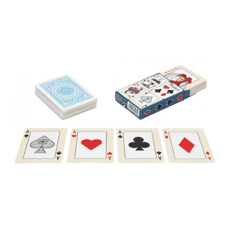 4x Poker/kaartspel speelkaarten Engelstalig