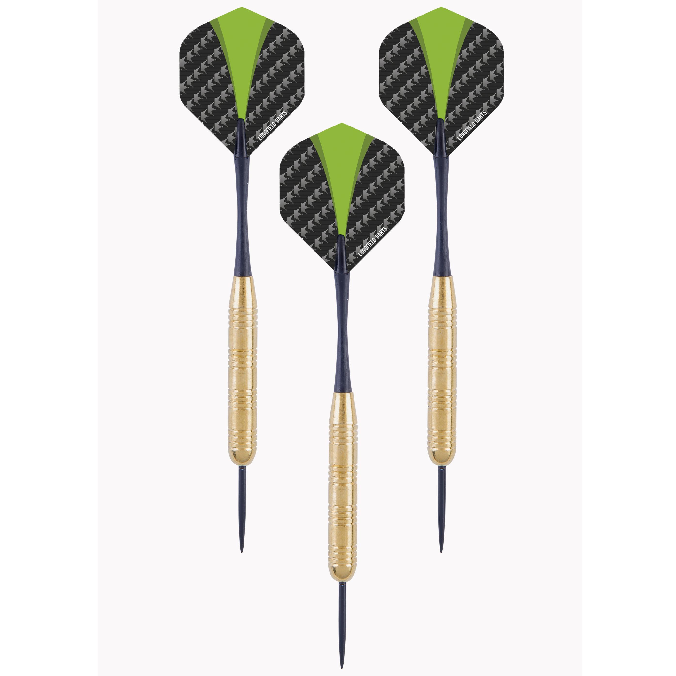 4x Set van 3 dartpijlen Longfield darts brass 21 grams