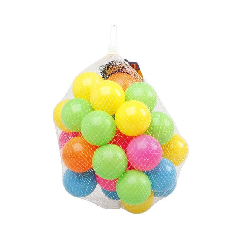 50x Ballenbak ballen neon kleuren 6 cm speelgoed
