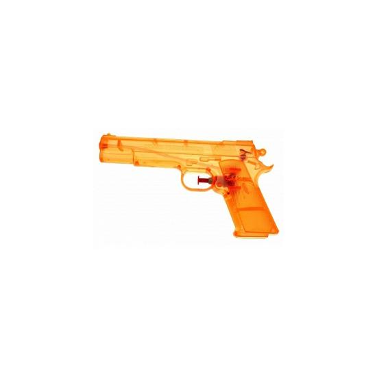 5x Transparante waterpistolen oranje