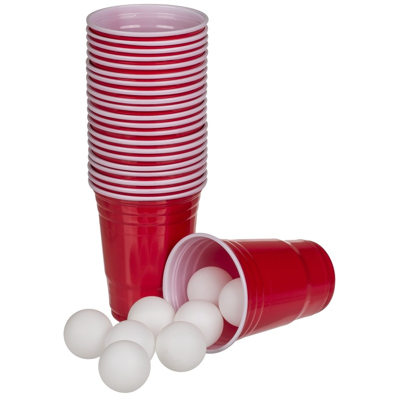 Beer pong drankspel/drinkspel 37 delig