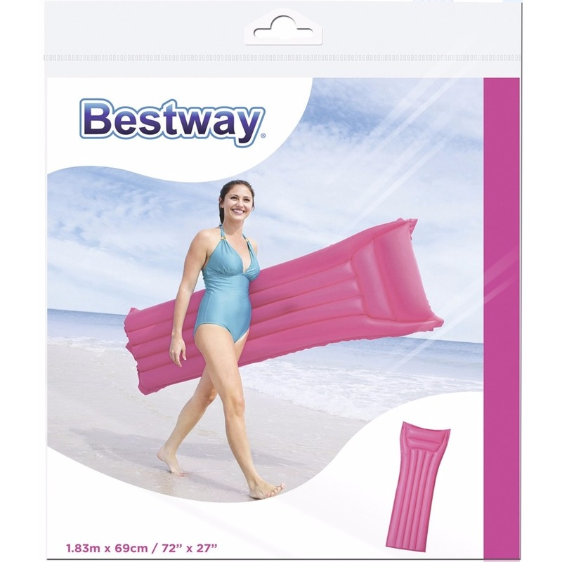 Bestway roze luchtbed 183 cm