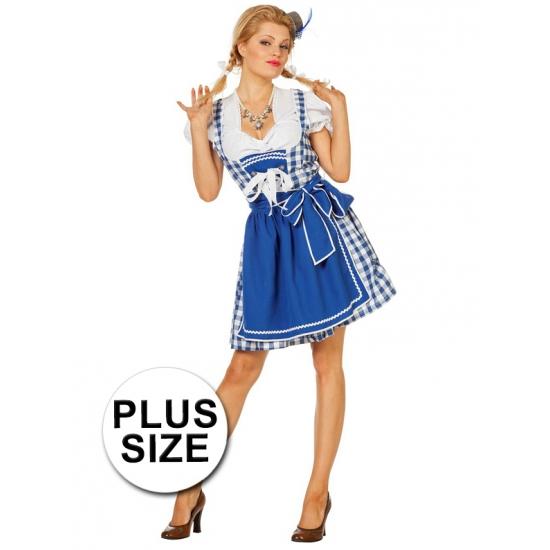 Big size Oktoberfest jurk blauw