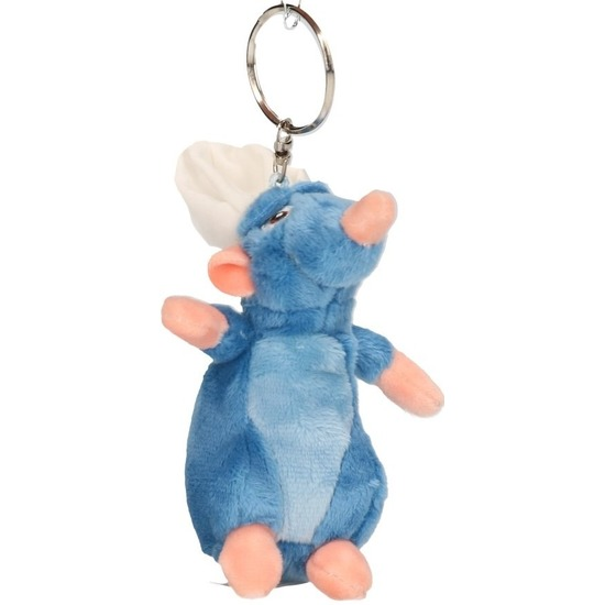 Cartoon knuffels sleutelhangers Disney Remy Ratatouille muis blauw 10 cm