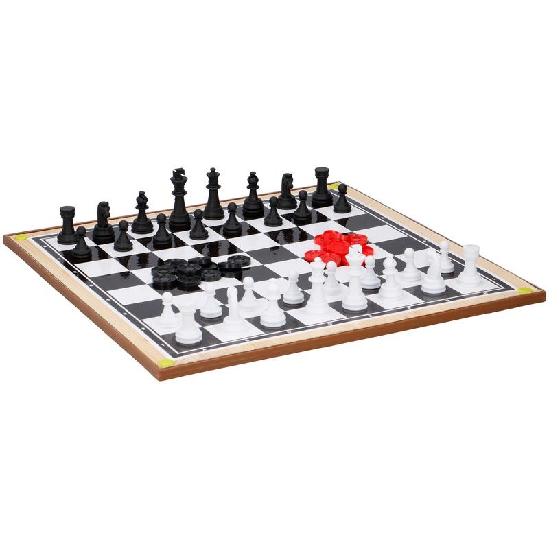 Dambord/schaakbord 38 x 38 cm