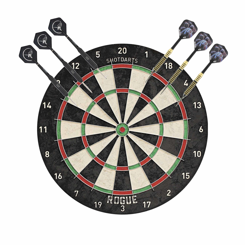 Dartbord Rogue Bristle met 2 sets dartpijlen 22 grams