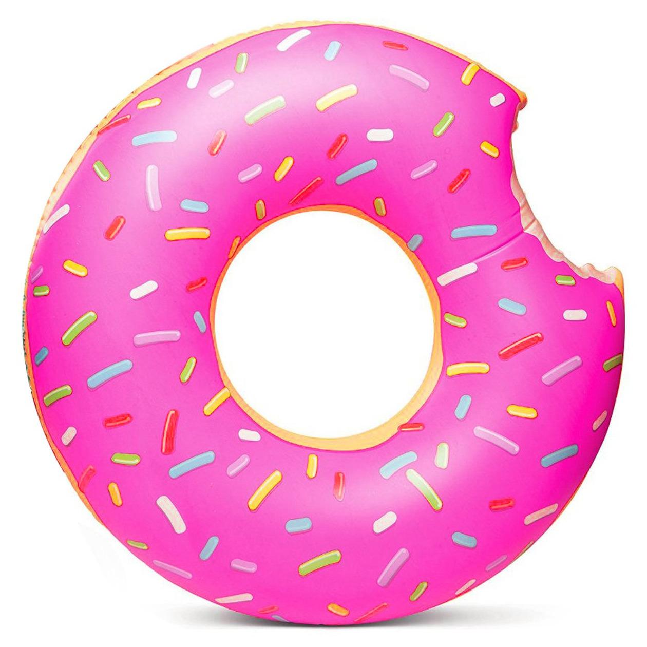 Donut zwemring roze 119 cm