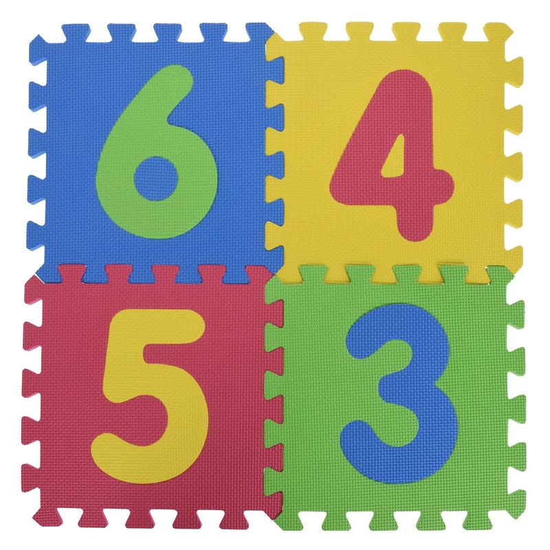 Foam puzzelmat/puzzeltegels cijfers educatief speelgoed