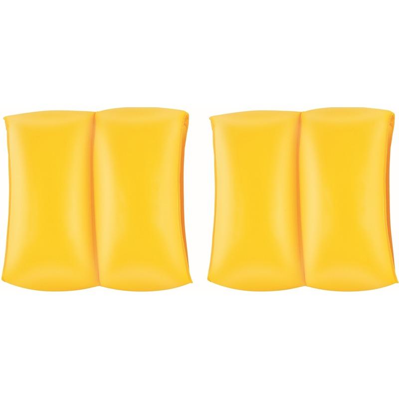 Gele zwemmouwtjes opblaasbaar 20 cm