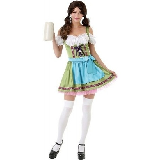 Groen Oktoberfest jurkje/dirndl kostuum voor dames