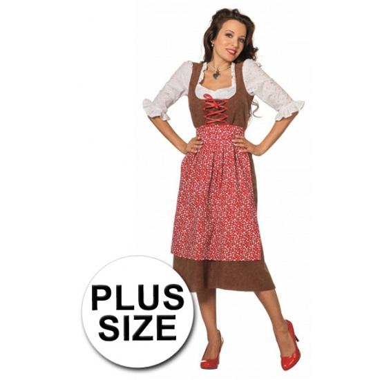 Grote maat lange luxe tiroler outfit vrouwen