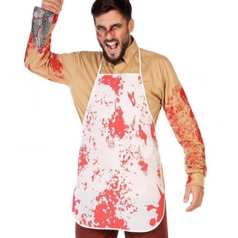 Halloween - Horror/slachter schort met bloed voor volwassenen