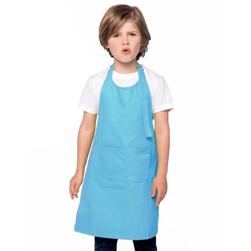 Hobby schorten aqua blauw voor kinderen