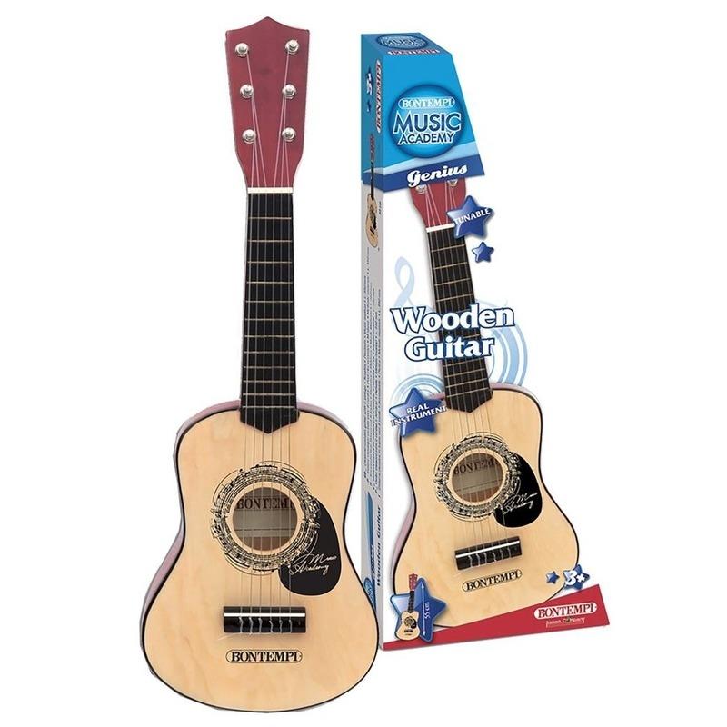 Houten speel gitaar 55 cm voor kinderen