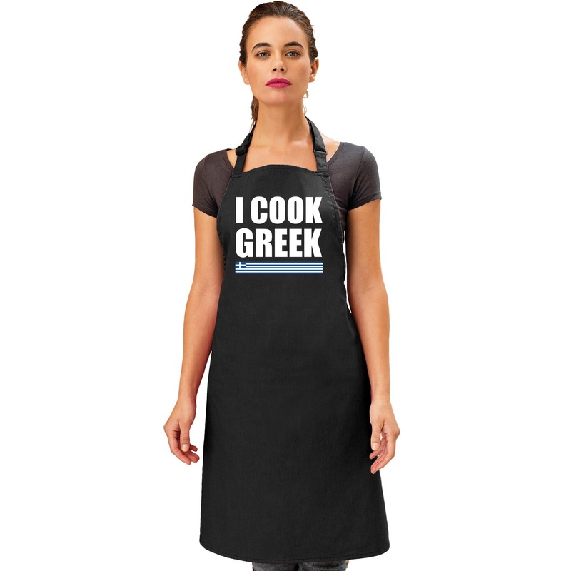 I cook Greek keukenschort