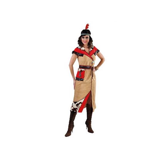 c5ec7e745e23c4 Indiaan jurk voor dames met riem. indiaanse kostuum voor dames. dit kostuum  bestaat uit
