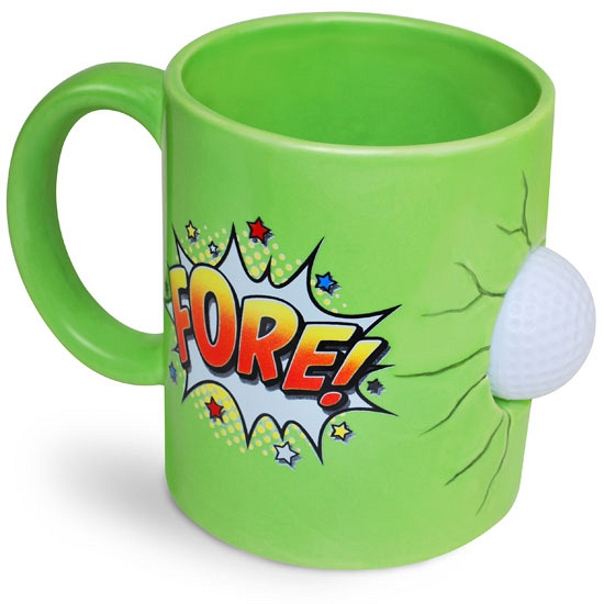 Kado koffiemok groen golffanaat Cadeau /sport-speelgoed/golf-artikelen