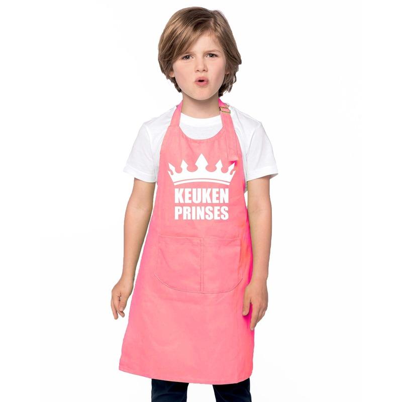 Keukenprinses kinderschort roze meisjes