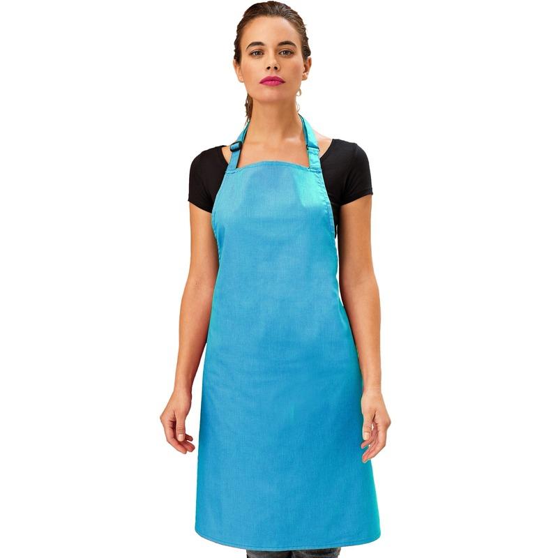 Keukenschort tuquoise voor volwassenen