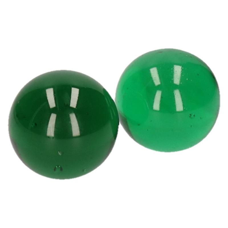 Kingsize knikker groen 6 cm 2 stuks