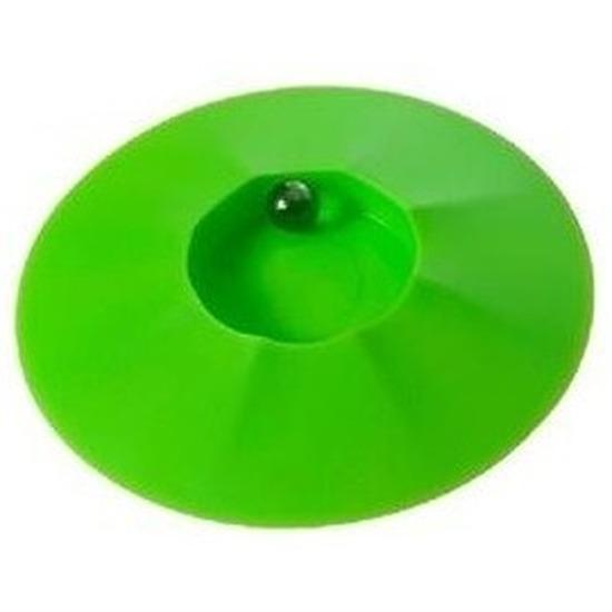 Knikkerpot groen met knikkers 17 cm