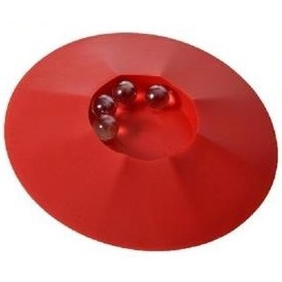 Knikkerpot rood met knikkers 17 cm