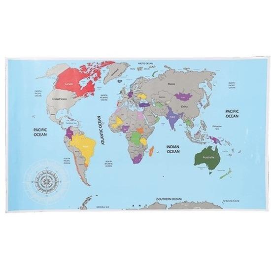 Kraskaart internationaal 52 x 88 cm