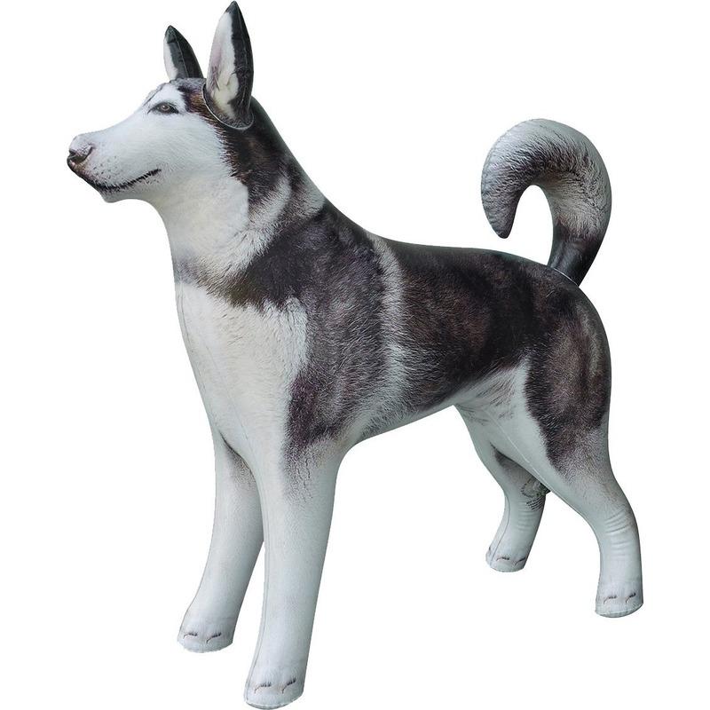 Opblaasbare Husky hond 75 cm decoratie/speelgoed