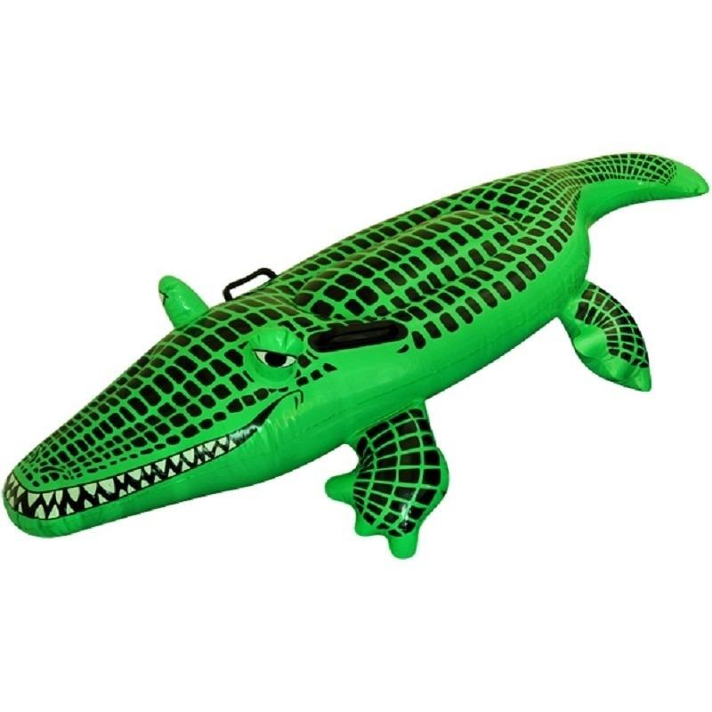 Opblaasbare krokodil 150 cm groen