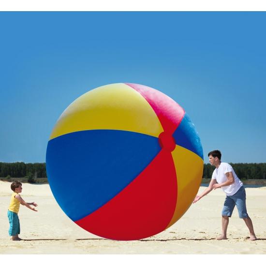 Opblaasbare XXL mega strandbal multikleur/gekleurd 300 cm