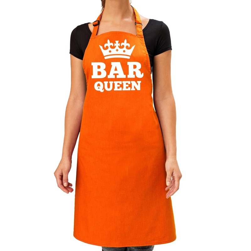 Oranje Bar Queen keuken schort dames