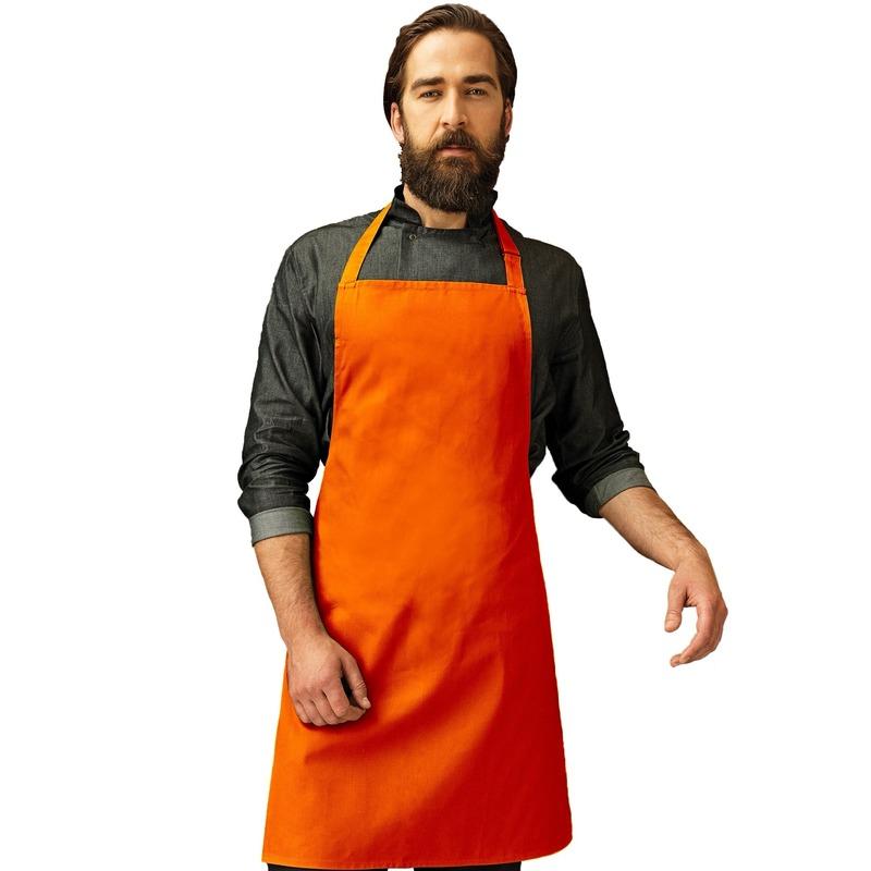 Oranje barbeque keukenschort