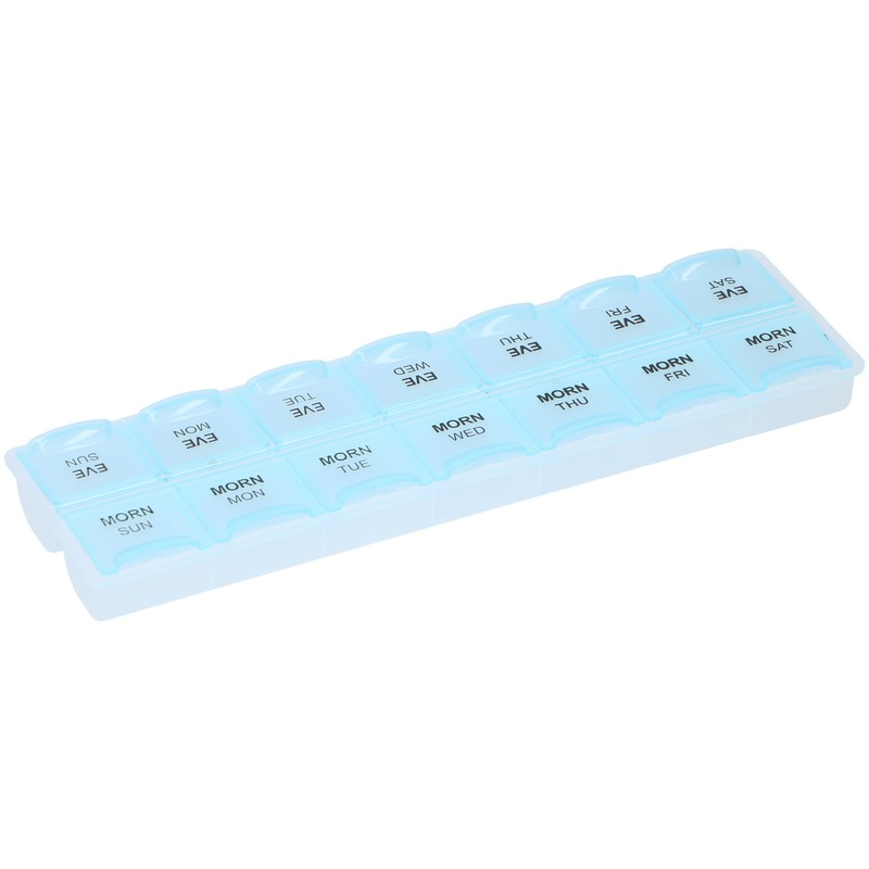 Pillen/medicijnen box week ochtend/avond Engels