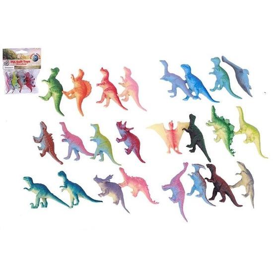 Plastic dinosaurussen 4 stuks