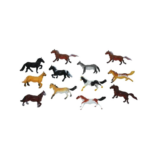 Plastic paardjes 6 cm