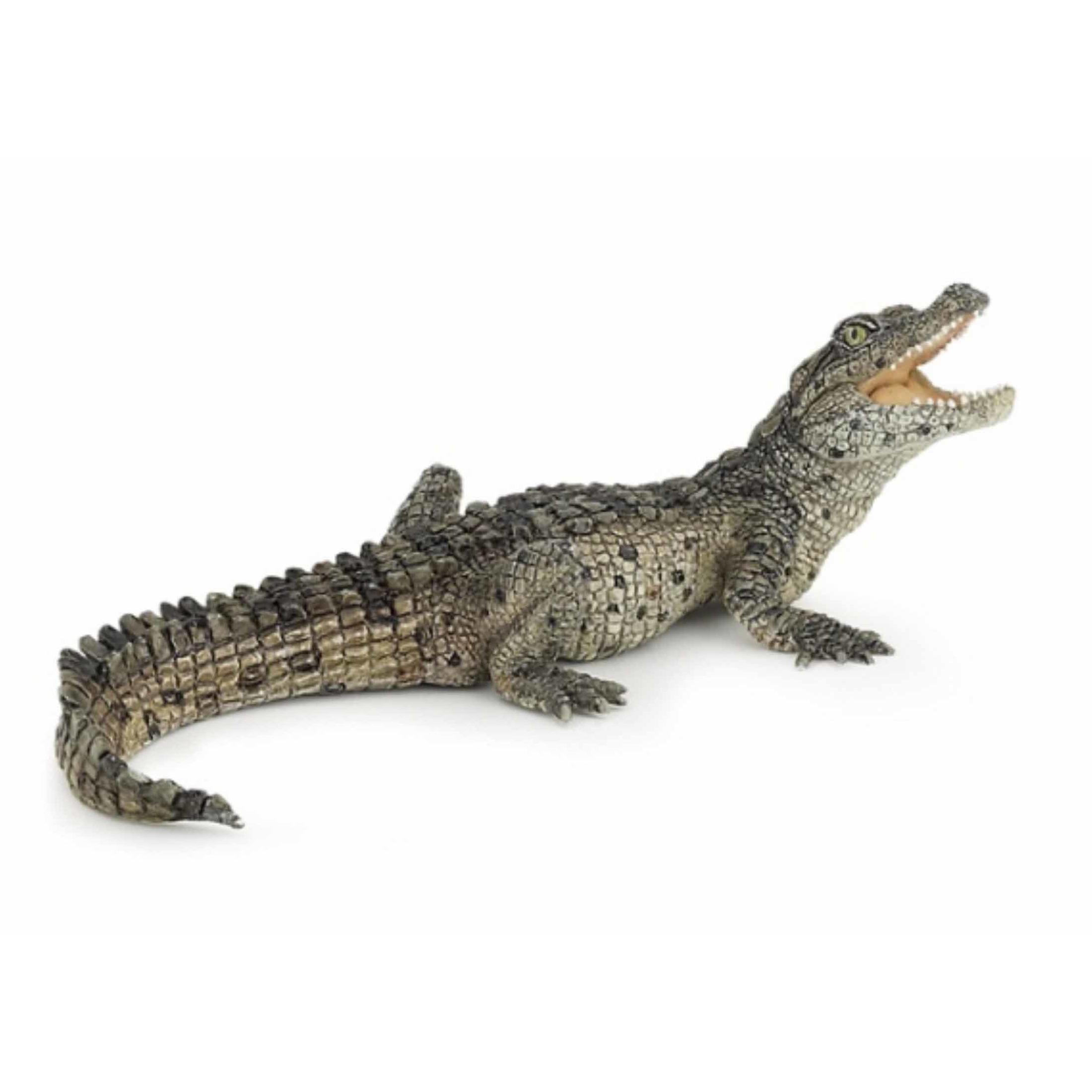 Plastic/rubber speelgoed figuur krokodil 10 cm