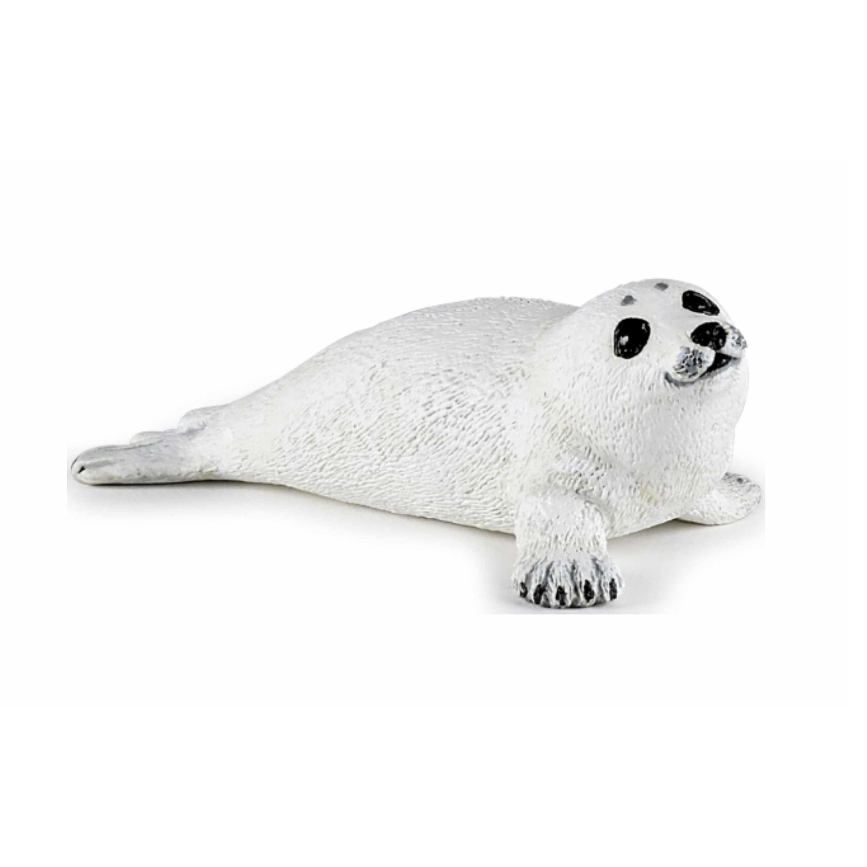 Plastic speelgoed figuur liggende zeehond pup 8 cm