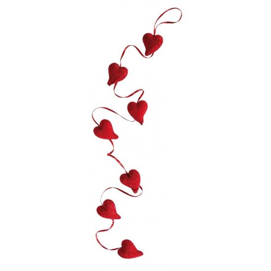 Rode liefdes slinger met harten 120 cm