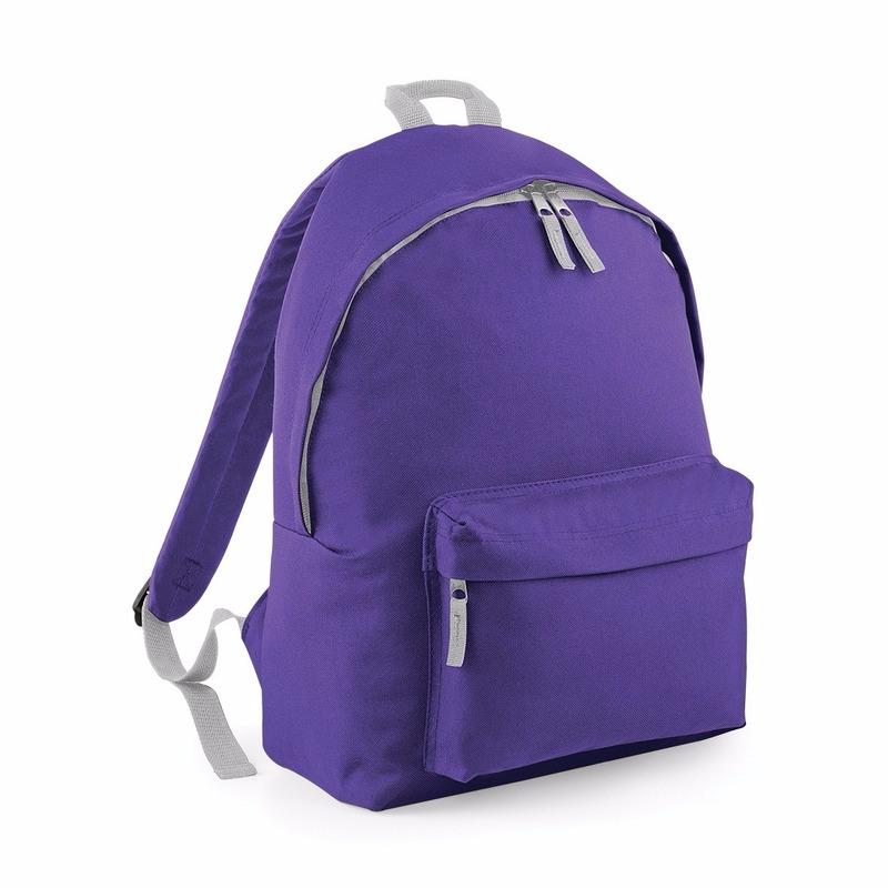 9fe75352a80 Junior rugzak paars. rugzak in de kleur paars van 100% polyester met een  grijze