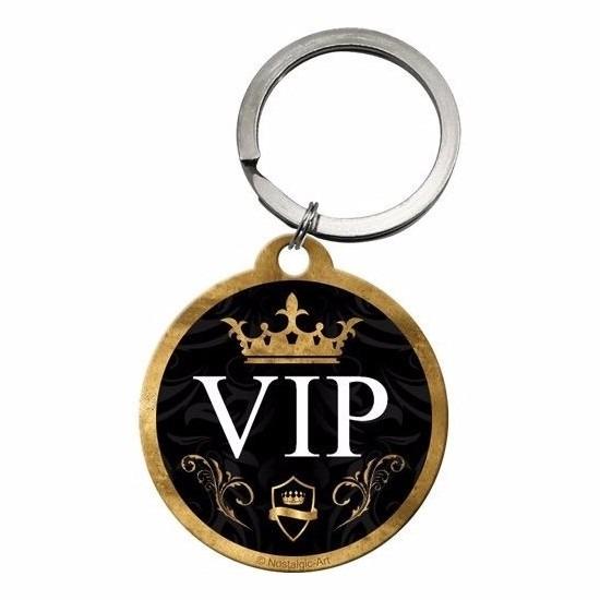 Sleutelhanger VIP rond 4 cm