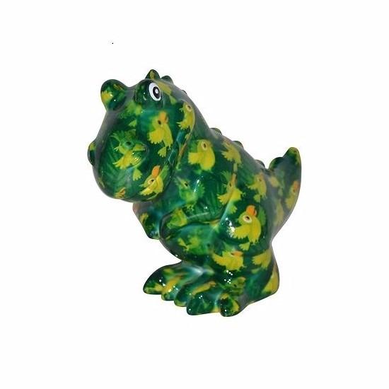 Spaarpot dinosaurus 17 cm groen