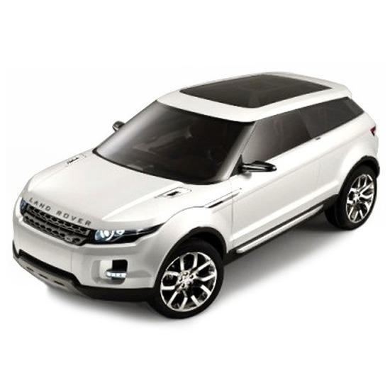 Speelgoed auto Land Rover LRX wit 1:43