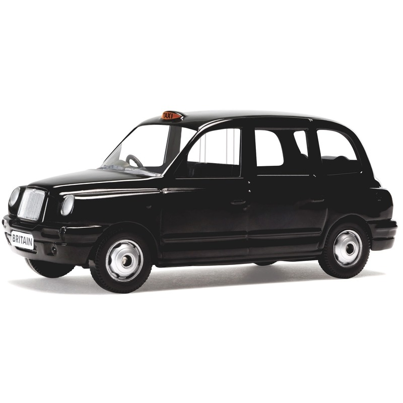 Speelgoed auto London taxi zwart 1:36