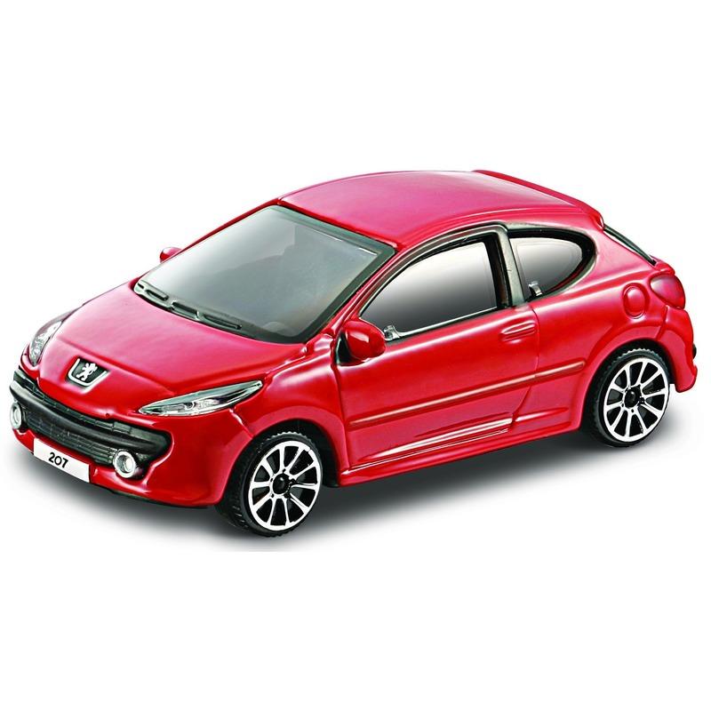 Speelgoed auto Peugeot 207 rood 1:43