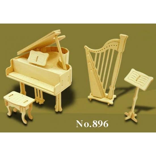Speelgoed poppenhuis muziekinstrumenten bouwpakket