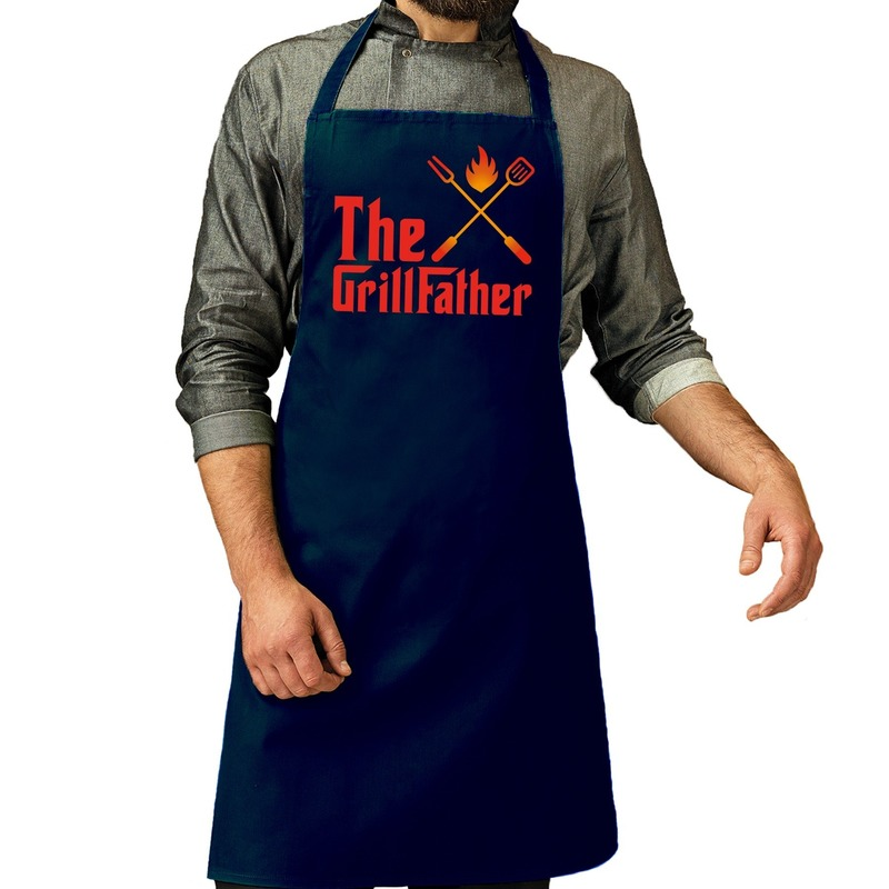 The GrillFather barbecue schort - keukenschort navy voor heren