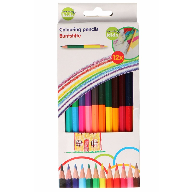 Topwrite Kids kleurpotloden dubbel 24 kleuren