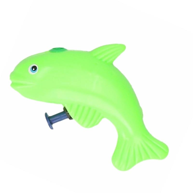 Vis waterpistool groen 9 cm