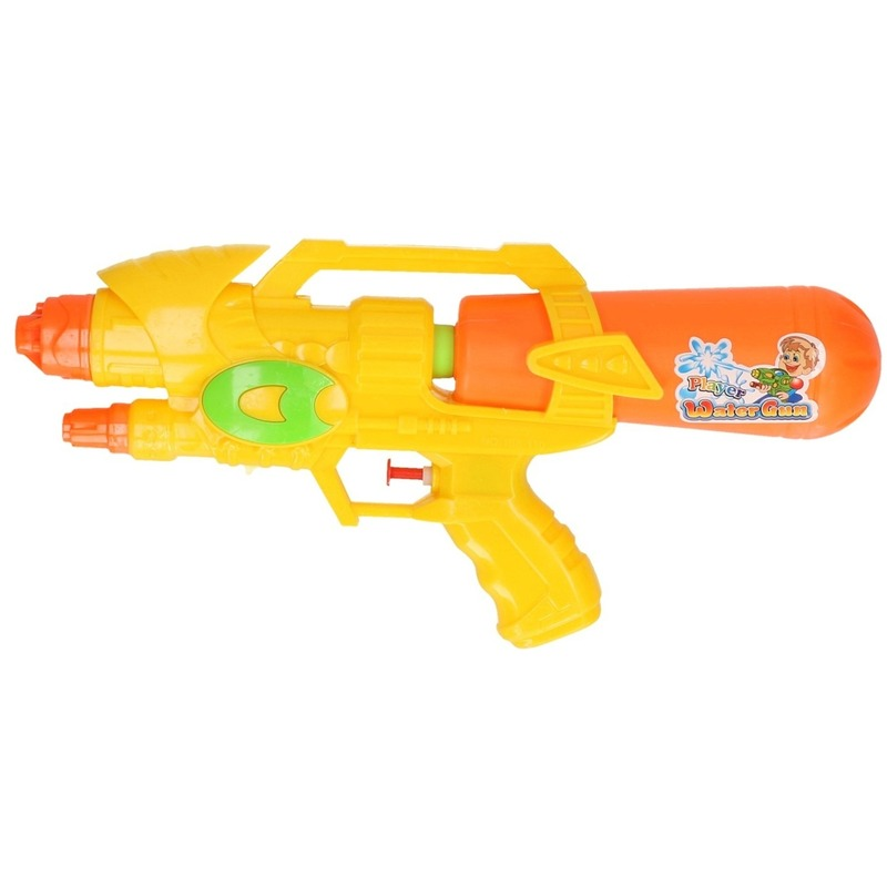 Voordelig waterpistool oranje/geel 34 cm