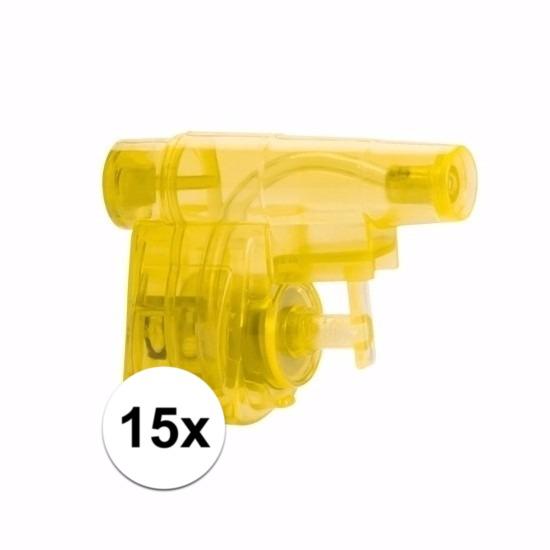 Weggevertjes gekleurde waterpistolen 15 stuks